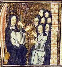 Hildegarda con sus monjas