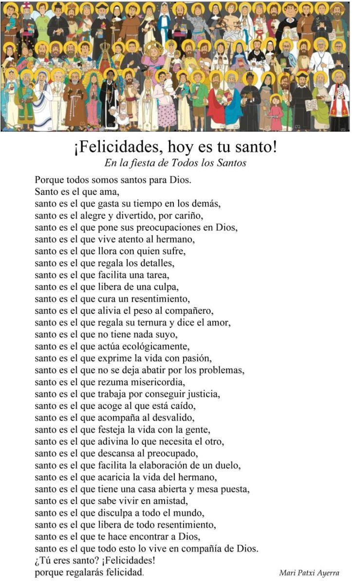 Felicidades, hoy es tu santo